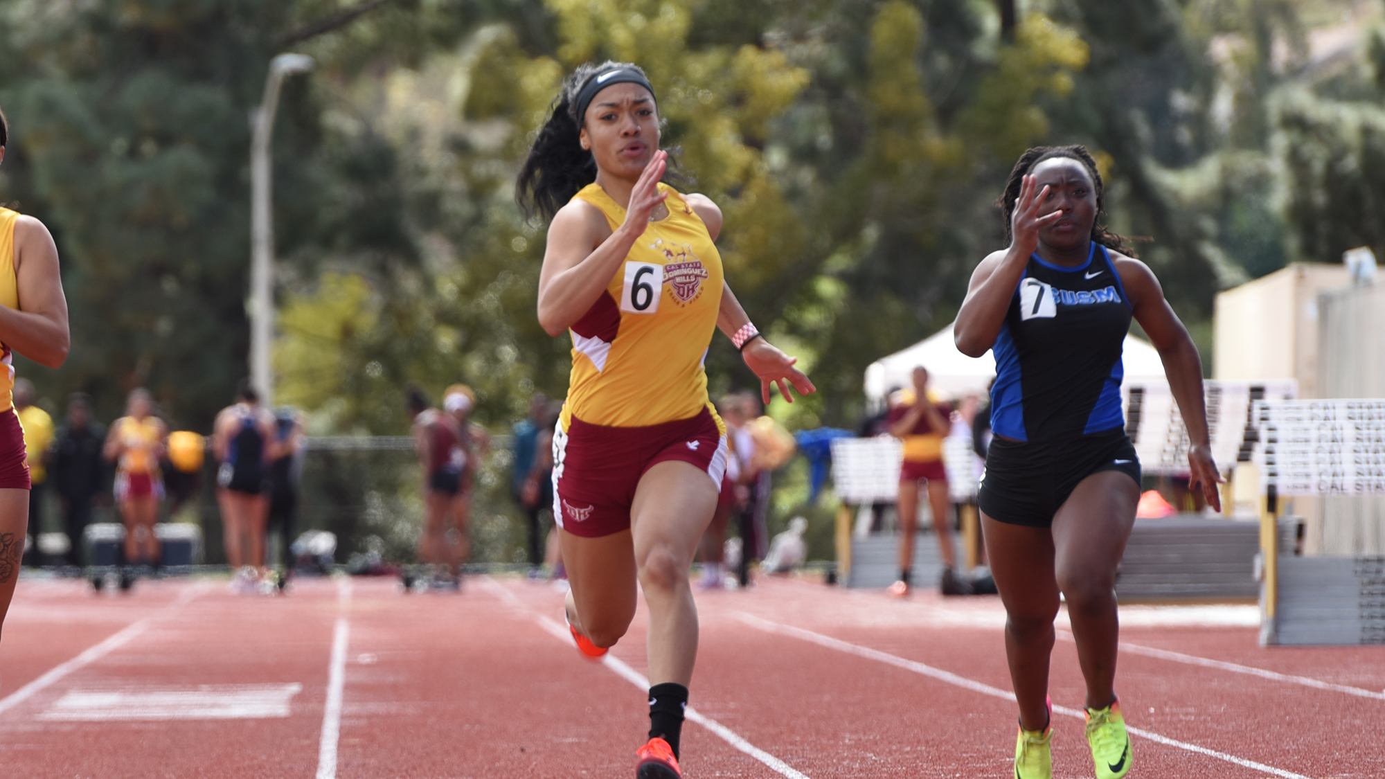 Mariah Walker Wins 100-Meter Sprint for CSUDH at SF State Distance Carnival